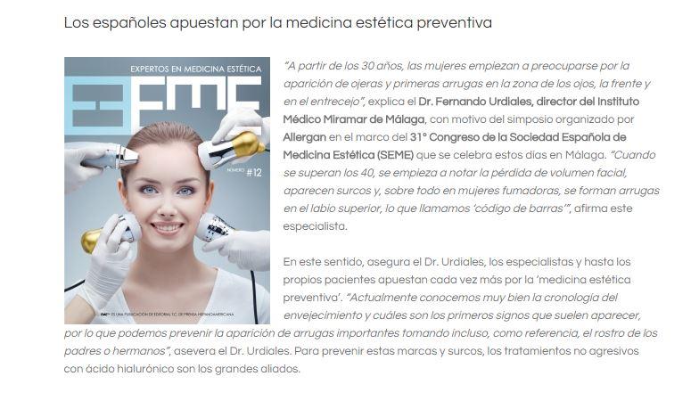 """Interview Dr. P. Ogilvie """"Expertos en Medicina Aestetica"""""""